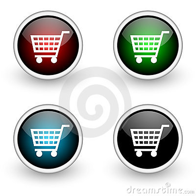 Shopping colored button set