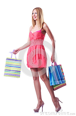 Shopping concept with woman