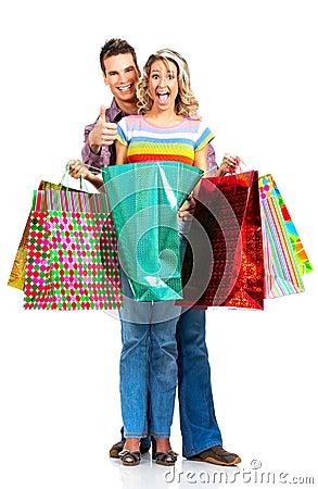 Free Shopping Couple Stock Photography - 7004462