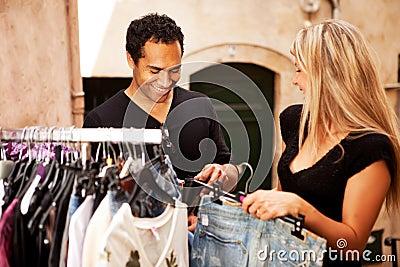 Shopping Couple Europe