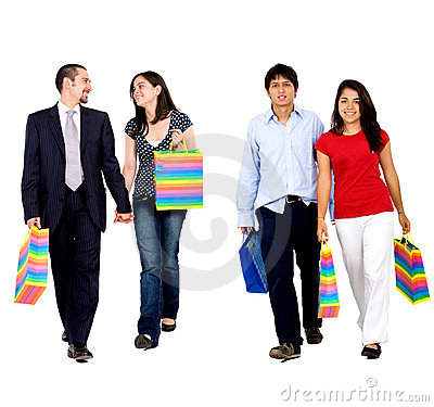 Shopping couples