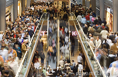 Shopping Crowd Stock Photo Image 1484500