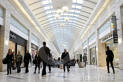 Shopping in crowded mall Editorial Image