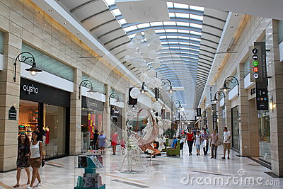 Shopping in crowded mall Editorial Stock Photo
