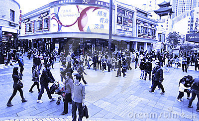 Shopping crowds in china Editorial Photo