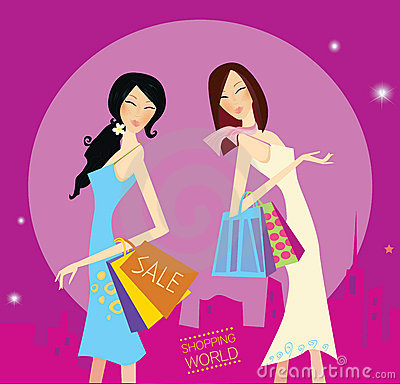 Free Shopping Duo Stock Image - 11437251