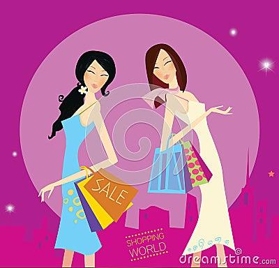 Shopping duo