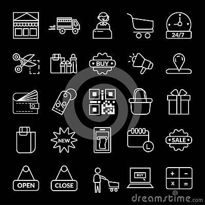 shopping, E-commerce vector icon Editorial Stock Photo