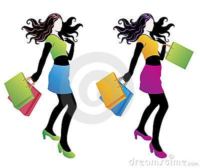 Shopping fashion girl.