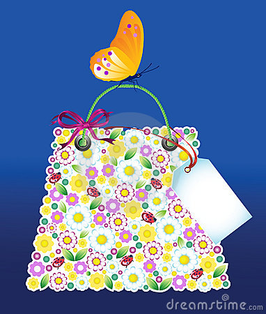 Shopping Flowers Bag
