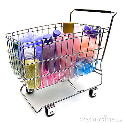 Free Shopping For Beauty Products Royalty Free Stock Photography - 8013467