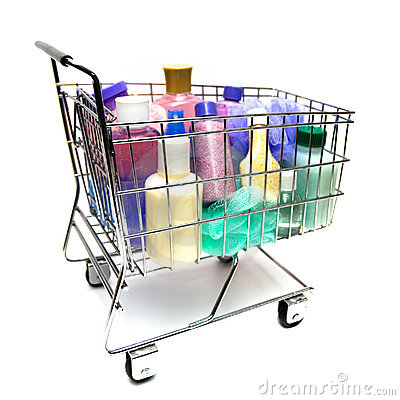 Free Shopping For Beauty Products Royalty Free Stock Images - 8028759