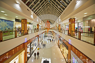 Shopping galleries at shopping and entertainment center RIO Editorial Image