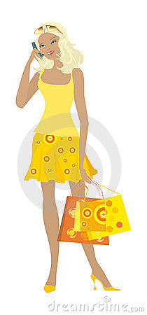 Free Shopping Girl 11 Royalty Free Stock Images - 4474319
