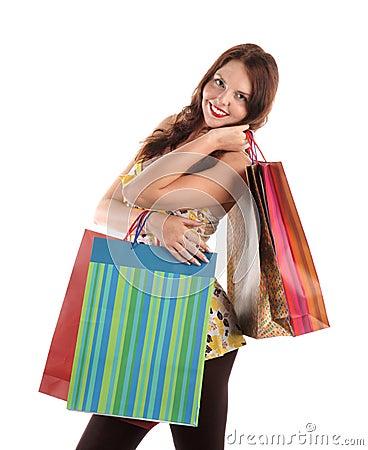 Free Shopping Girl Royalty Free Stock Photos - 15282778