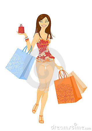 Free Shopping Girl Royalty Free Stock Image - 17970916