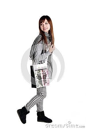 Shopping girl.