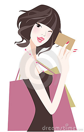 Free Shopping Girl Royalty Free Stock Photos - 8117828
