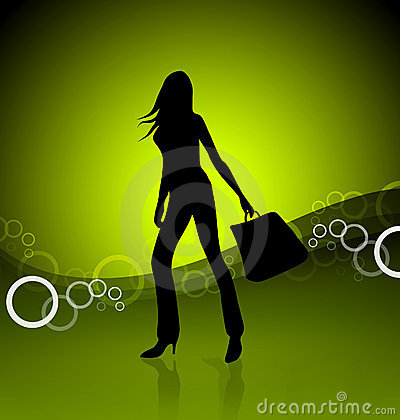Free Shopping Girl Illustration Stock Photos - 2528633