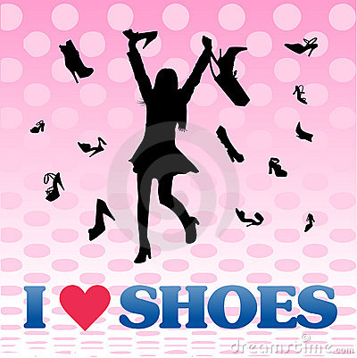 Shopping girl love shoes