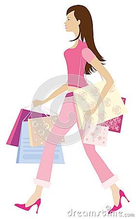Shopping girl1