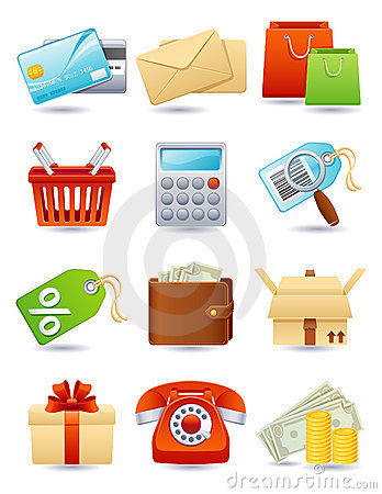 Free Shopping Icon Royalty Free Stock Photos - 9256098