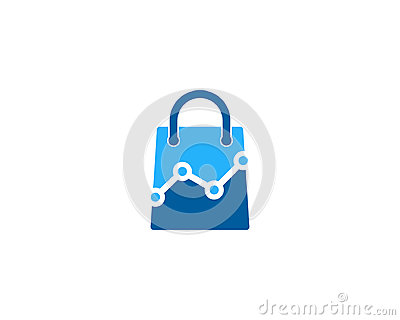 Shopping Icon Logo Design Element Vector Illustration