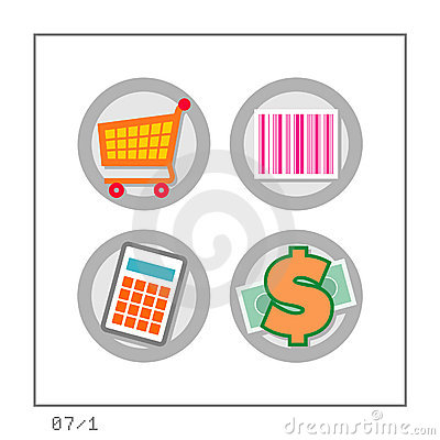 Free SHOPPING: Icon Set 07 - Version 1 Royalty Free Stock Image - 281466
