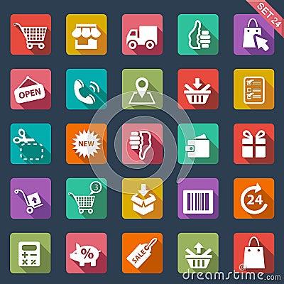 Free Shopping Icon Set Royalty Free Stock Photos - 34054678