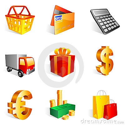 Free Shopping Icons. Royalty Free Stock Photos - 12635268