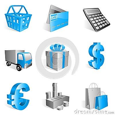 Free Shopping Icons. Stock Image - 12699001
