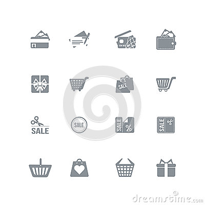 Free Shopping Icons Stock Photos - 34504363