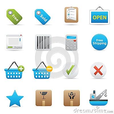 Free Shopping Icons | Indigo Serie 02 Royalty Free Stock Photography - 14929077