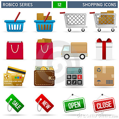 Free Shopping Icons - Robico Series Stock Image - 13628261
