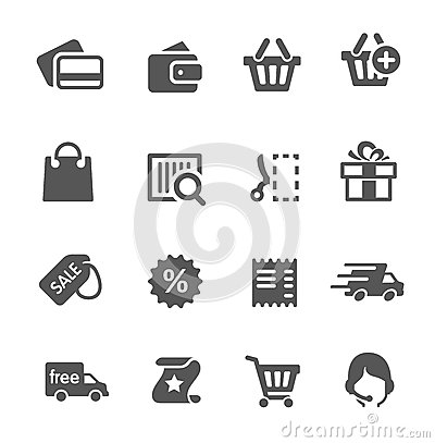 Free Shopping Icons Set. Royalty Free Stock Images - 31948399