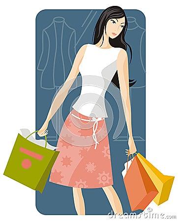 Free Shopping Illustration Series Royalty Free Stock Photo - 2512865