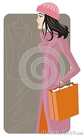 Free Shopping Illustration Series Royalty Free Stock Photo - 2513905