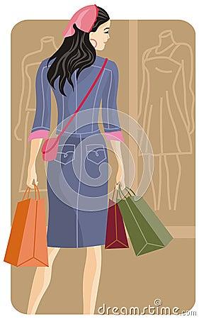 Free Shopping Illustration Series Royalty Free Stock Photo - 2513975