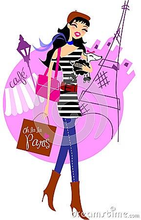 Free Shopping In Paris Stock Photo - 9157330