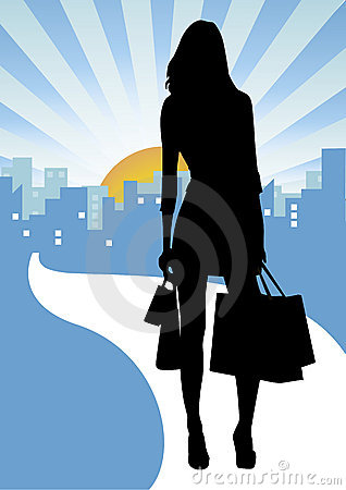Free Shopping In The City Stock Photography - 5017902