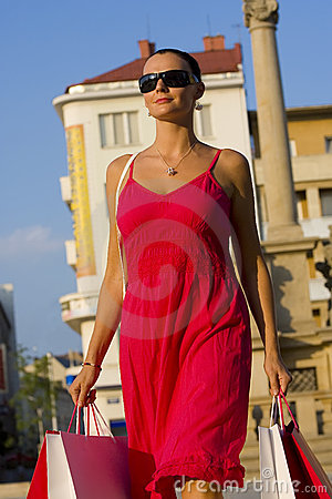 Free Shopping In The Sunshine Stock Photo - 3079130