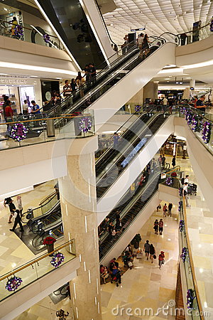 Shopping in Ion Orchard Editorial Stock Image