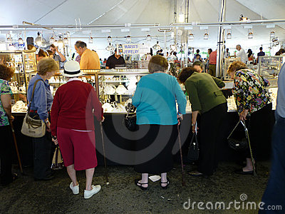 Shopping for Jewelry at the Festival Editorial Image
