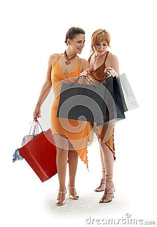 Free Shopping Ladies Royalty Free Stock Image - 1310306
