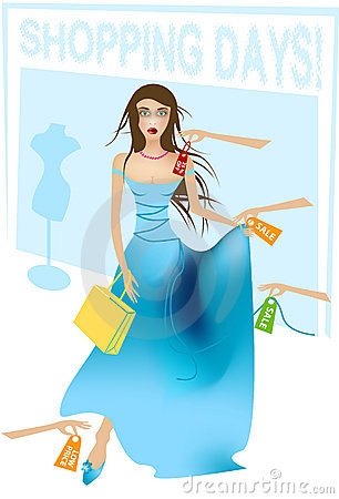 Free Shopping Lady Stock Photography - 1768622