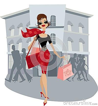Free Shopping Lady Stock Image - 2318291