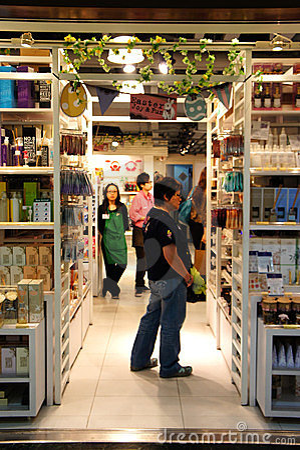 Shopping in Lane Crawford Editorial Stock Photo