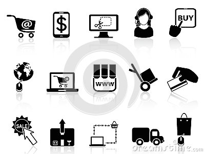 Shopping on-line icons