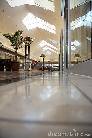Shopping mall - bright and clean but empty