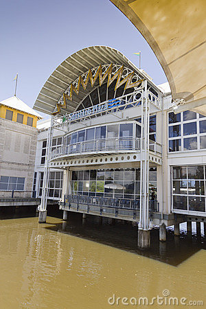 Shopping Mall built above flooded river. Editorial Photography